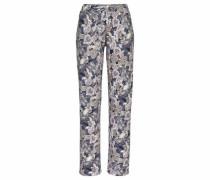 Pyjamahose mit Paisleymuster blau / rosa / weiß