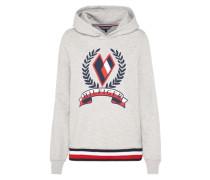 Sweatshirt 'tate Heart Hoodie LS' navy / hellgrau / rot