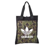 Einkaufstasche 'Shopper Camo' grün / schwarz