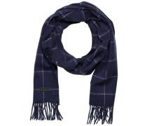 Karierter Schal blau
