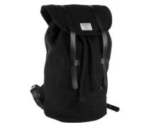 Unisex-Rucksack mit Lederdetails 'Stig' schwarz