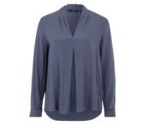 Blusenshirt im Tunikastil blau