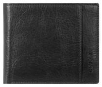 Buddy Geldbörse Leder 11 cm schwarz