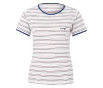 T-Shirt 'Retro' mit Streifen dunkelblau / rot / weiß