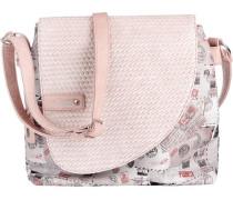 Umhängetasche grau / rosa / weiß