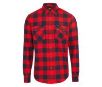 Hemd ' Rider Shirt' dunkelblau / rot