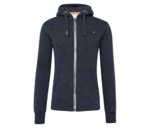 Sweatjacke 'orange Label Ziphood' blaumeliert