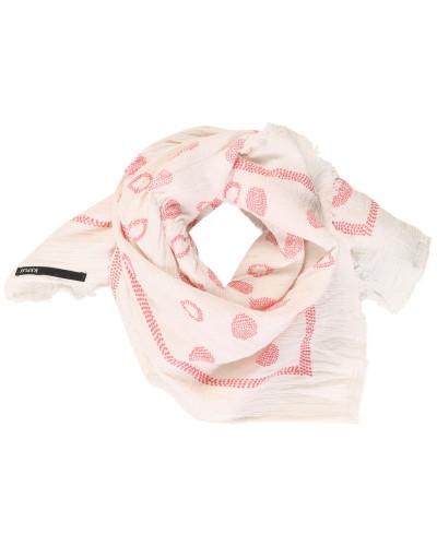Tuch rosa / weiß