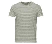 Jacquardbedrucktes T-Shirt grau