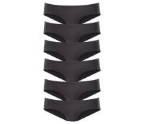 Hipster-Panty (6 Stck.) schwarz