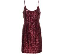 Pailletten-Kleid ohne Ärmel rot