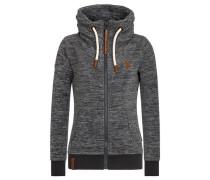 Zipped Jacket 'Redefreiheit? Iii' braun / anthrazit