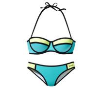 Balconette-Bikini blau / türkis / grün
