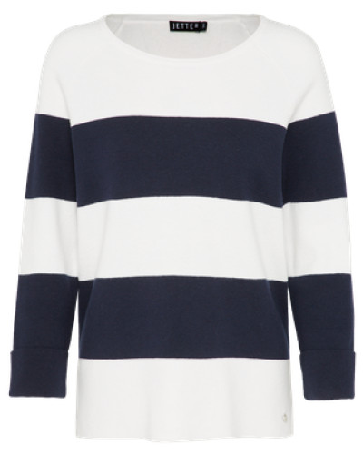 Pullover 'Aileen' navy / offwhite