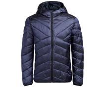 Wattierte Metallic Jacke blau