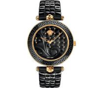 Schweizer Uhr 'vanitas Ceramic Vao040016' gold / schwarz
