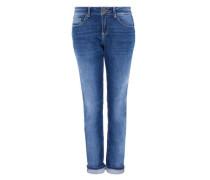 Boyfriend Jeans im Used-Look blue denim