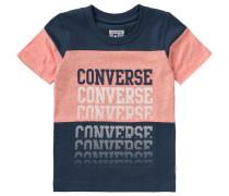 T-Shirt für Jungen blau / orangemeliert