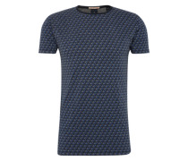 T-Shirt beige / dunkelblau