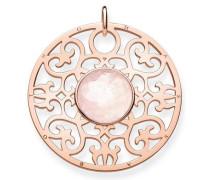 Kettenanhänger 'Rosa Ornament Pe763-536-9' rosegold / rosa