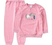 Schlafanzug Pferd pink