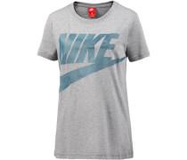 T-Shirt 'Glacier' rauchblau / hellgrau