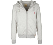 Kapuzensweatjake 'hooded Lined Jacket' hellgrau