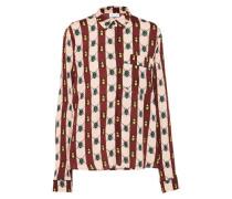 Bluse mit Muster beige / braun