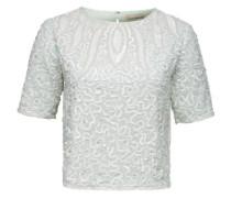 Shirt mit Pailletten 'Sabrina' beige