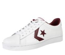 Sneaker Low 'PL 76' weinrot / weiß
