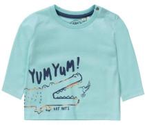 Baby Langarmshirt für Jungen türkis / dunkelblau / orange