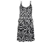 Strandkleid mit Animalprint schwarz / weiß