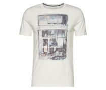 T-Shirt short sleeve round neck weiß