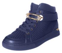 Hohe Sneaker mit Goldschnalle 'Storo' navy