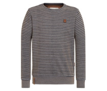 Sweatshirt 'Indifference Of Good Men' marine / dunkelgrau