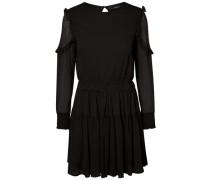 Feminines Kleid mit langen Ärmeln schwarz