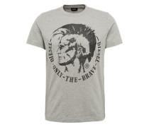T-Shirt mit Print hellgrau / schwarz