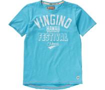 Baby T-Shirt für Jungen hellblau / weiß