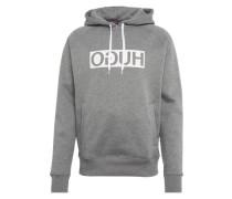 Sweatshirt 'D/unisex' graumeliert / weiß