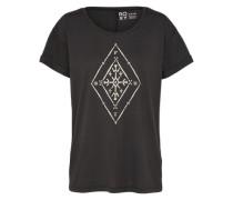 T-Shirt 'Alex Palm Tribal Voice' schwarz