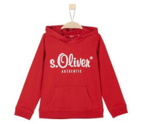 s.Oliver Authentic - Sweat-Hoodie rot / weiß