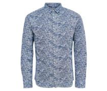 Langärmeliges Hemd blau / hellblau