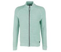 Garment Dye-Jacke mit Zipper grün