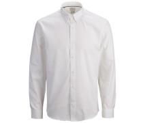 Langarmhemd Slim Fit - Elegant weiß