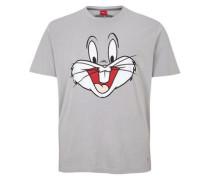 Comic-Shirt 'Looney Tunes' grau