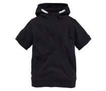 Kapuzensweatshirt für Jungen schwarz