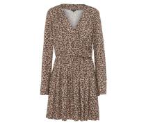 Kleid 'crossed' beige / hellbraun