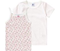 Doppelpack Unterhemden für Mädchen rosa