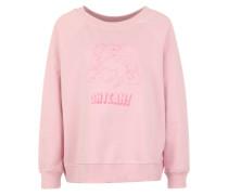 Sweatshirt mit Einhorn-Stickerei rosa