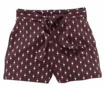 Shorts (Set 2 tlg. mit Bindegürtel) bordeaux / schwarz / weiß